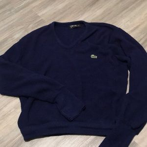 Vintage IZOD Lacoste wool v-neck sweater Navy